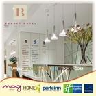 Vanilla Modern reception counter design for hotel