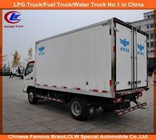 Foton Mini Refrigerated tank Truck Foton 4*2 van Truck Foton 3-5ton refrigerated truck box