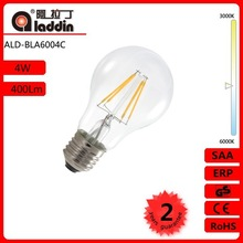 hot new products for 2015 smart lignting A60 4W light bulb/mirror led filament bulb