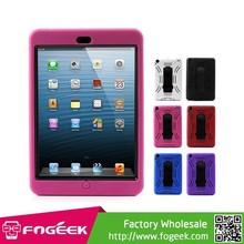 Kickstand Bump Wave Durable Plastic & Silicone Combo Case for iPad Mini