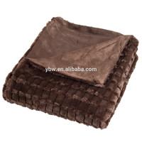 Best Price Blanket in China PV Plush Faux Fur Blanket