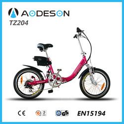 Electric Bike, e-Reactive Lithium-Ion electric bicycle, e-Bike, Power eBike 20inch Electric Bike Aodeson TZ204 with EN15194