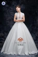 Top Designer High Neck Taffeta Elegant Lace Bridal Dress HMY-D028 Real Pictures Alibaba Suzhou