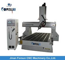 China CE supply multi head 4 axis cnc machine /most economic and efficiency 4 axis cnc /4 axis cnc sculpture mold machine