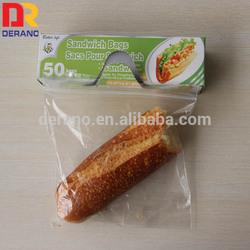 plastic reclosable ldpe zipper custom bag in retail box