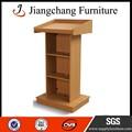 Elegante design em madeira de nogueira púlpitos para igrejas jc-jt24