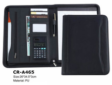 A2/A3/A4 pu leather conference bag with calculator