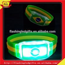 Night Club, Pubs, Concert, Holiday, Night Racing Flashing LED Light Glow Bracelet With Customized Logo led rubber bracelet