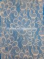 Df-31-6609-hx 2015 de moda nuevo diseño de poliéster spandex tela de encaje de las muestras de cordón para los vestidos
