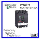 Compact NSX100H3P100A LV429670 Merlin Gerin Schneider Molded Case Circuit Breaker MCCB