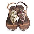 damas sandalias planas las últimas señoras sandalias de las señoras sandalia de fantasía
