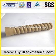 Railway sleeve/plastic dowels for rail fastening