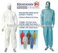 Non tessuto monouso tuta di sicurezza 2 pezzi abbigliamento da lavoro(giacca + pantaloni)