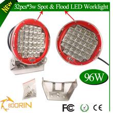 Car led worklight 96W 12v led tractor work light CT 6000K