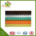 2015 la chine a fait température résistant translucide polyester feuille de résine
