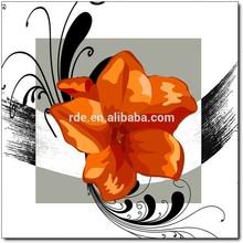 large hot sale 3 pieces canvas photo room decoration flower