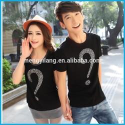Summer wear short-sleeved summer couples female T-shirt coat round collar Korea loose han edition