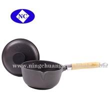 Cast Iron Coffee Milk Tea Pot With Wooden Handle