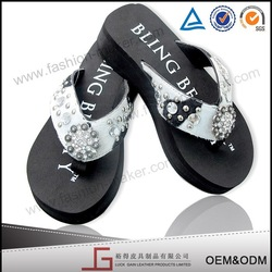 European Fashion Jewellery High Heel Rubber Slippers Manufacturers, 2014 Fashion Style House Slippers