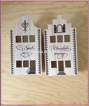 Novel design FSC laser cut customized wooden chocolate packing box