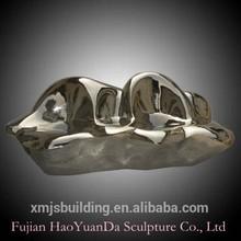 De aço inoxidável esculturas wonderful casa decorada de metal no interior e ao ar livre