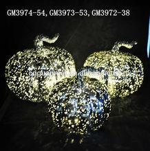 led glass pumpkin shaped decoration