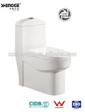 Ceramic white one-piece twyford toilet