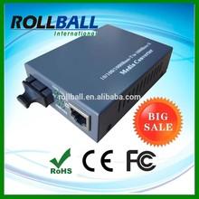 Factory price inside power 10/100/1000M tenda fiber optic media converter