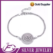 Vintage anklet designs 925 sterling silver italian plated gold jewellery