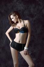 2015 new European and American export Miss Gao Yao sexy boxer was thin swimsuit bikini swimsuit big yards spa