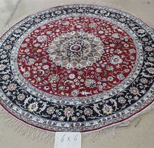 Double knots 6x6 persian silk handknotted carpets hand-made hand woven persian rugs los angeles