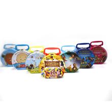 custom printed mini metal lunch tin box for kids