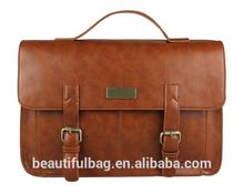 European style Document file Vintage Men Messenger Bags tote Elegant men's briefcases