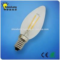 Decoration Home Light E14 2W LED Filament Candle Bulb