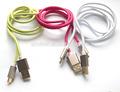 新しい到着の金属のマイクロusbデータと充電ケーブルiphone用6サムスン電子、