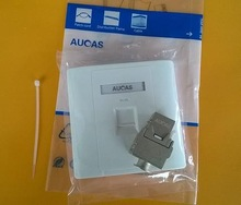AUCAS one/two port faceplate with module sales well