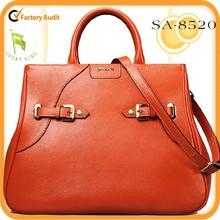 HOT !2015 brand unique design fashion100% genuine leather tote/shoulder bag direct factory supply