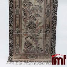 Leopard Print Carpet Raw Wool Prices Woollen Yarn Wholesale Stole