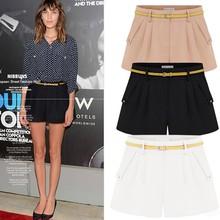 Fashion FOR Women Shorts Summer Chiffon Loose Casual Thin wholesale sweat shorts With Belt SV004884