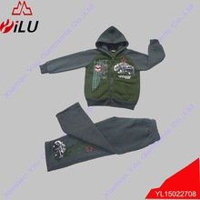 new design fleece cotton jogging sets with hoody for boys