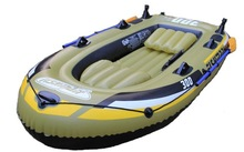 double inflatable flodable fishing boat