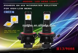 1512 LED chip 50W 3600lm high power led H13 headlight kits