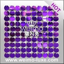 2016 New Purple PVC Walls For Wedding/ Event/Shop/Salon/Bar/Club Decoration