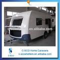 2015 venta caliente de lujo pequeños remolques de viaje de camping y de viaje