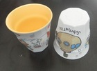 plastic melamine two color cup with decal mixing cup color