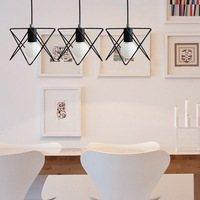 2015 New Decorative Square Metal Hanging Pendant Lights china supplier