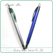 fashion style slim plastic metal click touch ball pen