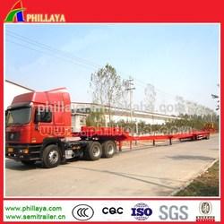 30-80ton heavy duty various types extendable concave beam low bed drop deck gooseneck semi truck trailers