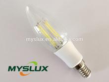 3w 380lm led filament candle bulb 360 degree smart lighting e14 e12 C35 led lamp CE ROHS ERP approval led filament lighting