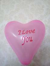 Wedding Decoration Latex Balloons Pink Heart Shape Printed Balloon /Party Decoration Balloons